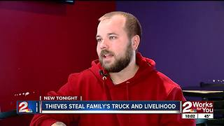 Tulsa family struggling to make ends meet after truck stolen - Video