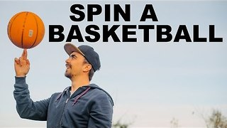 Could you Spin a Basketball on Your Fingertips for This Long? - Video