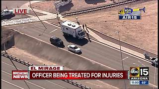 Officer injured in El Mirage incident - Video