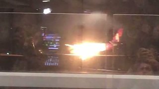 Plane Engine Catches Fire on Landing at Seattle-Tacoma Airport - Video