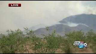 Lizard Fire causes evacuations in Dragoon, residents asked to evacuate - Video