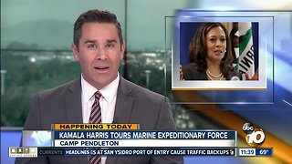 Sen. Kamala Harris tours Camp Pendleton