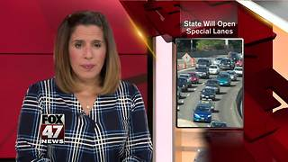 Michigan to open special lanes to ease highway congestion - Video