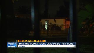 Two people found dead inside Vista home in suspected homicide - Video