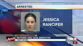 Mother, son arrested after car break-ins - Video