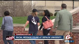 Racist message found at DePauw University - Video