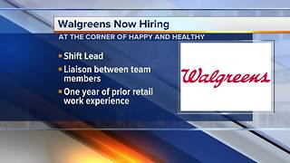 Walgreens hiring shift leaders - Video