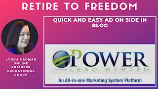 Quick And Easy Ad On Side In Blog