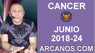 HOROSCOPO CANCER-Semana 2018-24-Del 10 al 16 de junio de 2018-ARCANOS.COM - Video