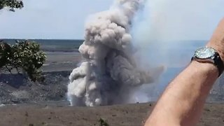 Smoke Emerges From Kilauea Following Earthquake - Video
