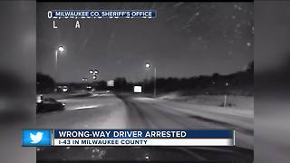 Wrong way driver arrested on I-43 - Video