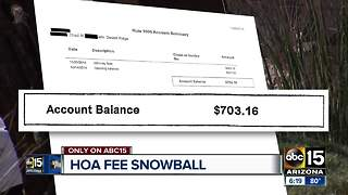 Homeowners say HOA company piled on fees without letting them know - Video