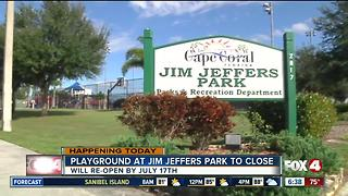 Jim Jeffers playground to close for renovations - Video