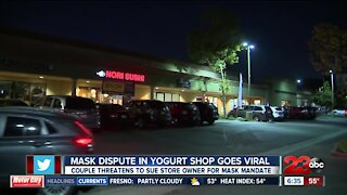 Mask dispute in yogurt shop goes viral