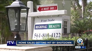 How does government shutdown affects South Florida housing market?