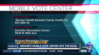 Denver's mobile vote center hits the road - Video