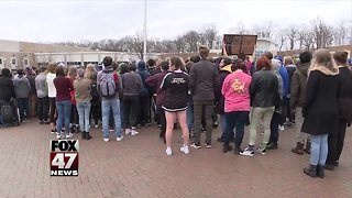 East Lansing students hold walkout for gun reform