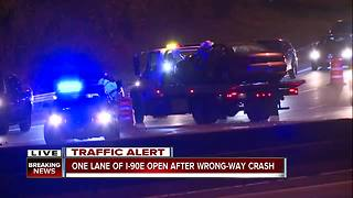 One person killed in wrong-way crash on I-90 Eastbound near W. 44th Street - Video
