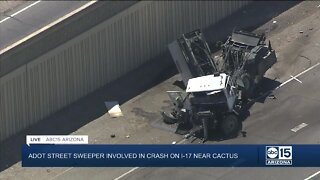 ADOT street sweeper involved in crash