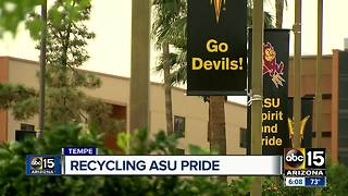 Tempe program recycling ASU banners and turning them into fashion - Video