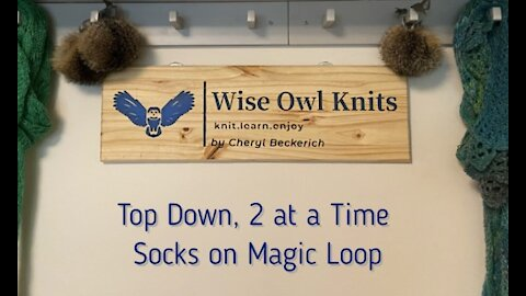 Top Down, 2 at a Time Socks on Magic Loop
