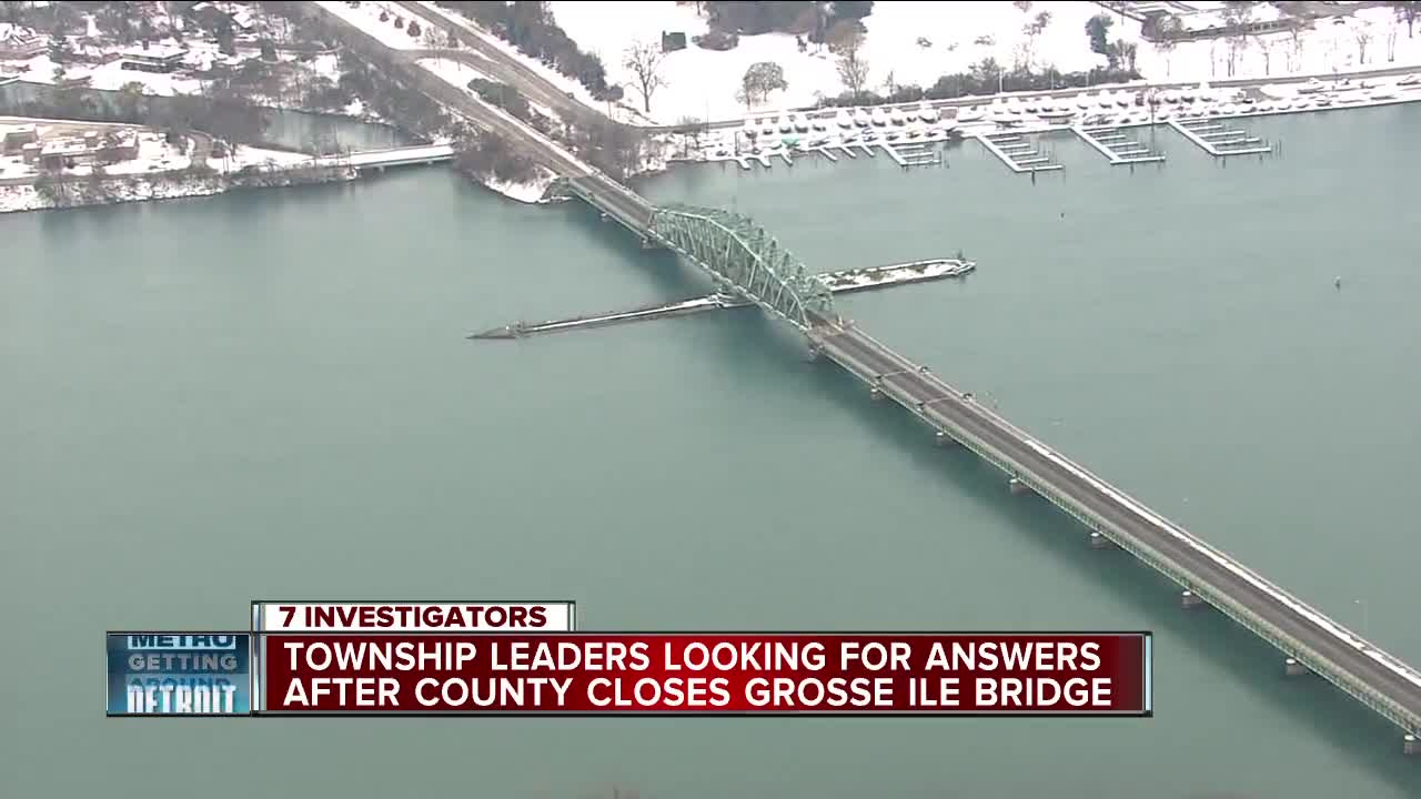 Township leaders looking for answers after county closes Grosse Ile Bridge