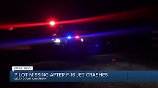 Search underway for pilot after F-16 crashes in Upper Peninsula