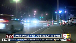 PD: Man hit construction workers with his car