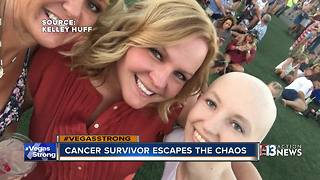 Cancer survivor narrowly escapes Las Vegas shooting - Video
