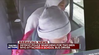 Detroit police searching for 2 men who attacked a school bus driver