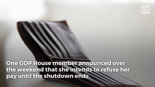 Gop Congresswoman Refuses Pay During Gov't Shutdown - Video