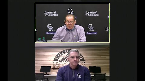 Rockies owner Dick Monfort, GM Jeff Bridich speak to media after Arenado trade