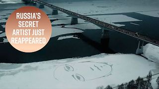 The Russian Banksy's latest stunt is mesmerizing - Video
