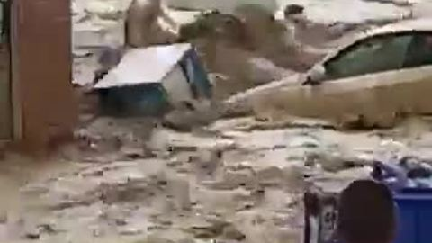 Insane massive flood decimates Spanish town