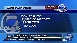 Contact 7 consumer alert: loan scam warning