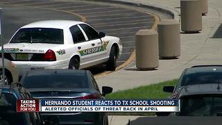 Hernando student reacts to Texas school shooting