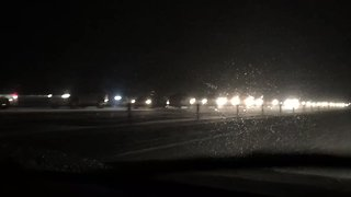 Snowstorm Causes Severe Delays Along Interstate 70 Near Silverthorne - Video