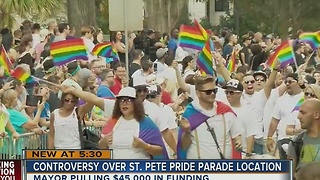 Controversy over St. Pete Parade location - Video