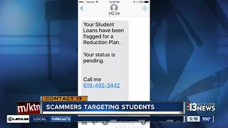 Scammers set their sights on students