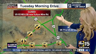 US-93 closed after deadly crash near Wickenburg