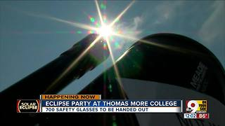 Solar eclipse 2017 watch party at Thomas More College in Northern Kentucky - Video