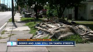 Some Tampa neighborhoods still littered with junk, debris after Hurricane Irma