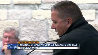 Mount Pleasant homeowners pack public hearing on Foxconn project - Video