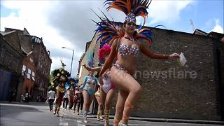 South London transformed into Latin carnival - Video