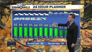 Sunday showers likely - Video