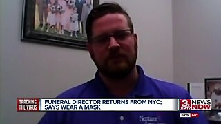 Omaha area funeral director returns from NYC