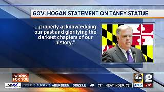 Gov Hogan says Taney statue should be removed - Video