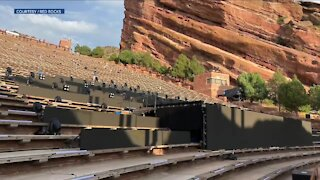 Red Rocks concerts this week will use a new stage