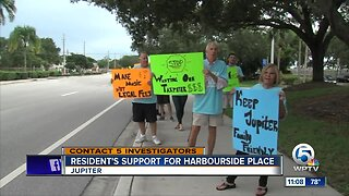 Harbourside Place show of support