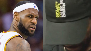 Kyrie Irving SNEAK DISSES LeBron James with a Hat - Video